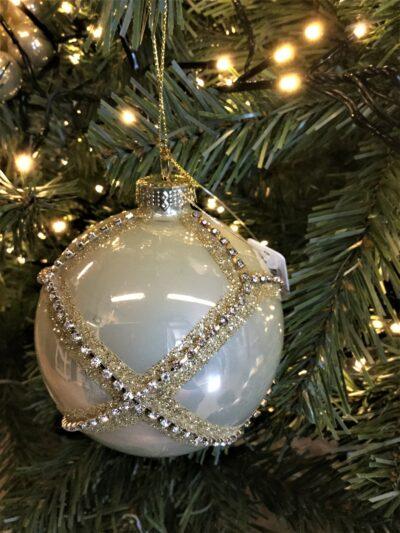 Kerstbal parelmoer