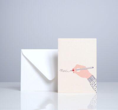 Message card 'Merci'